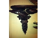 PAIR OF BLACK FOREST EAGLE BRACKETS