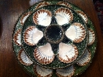 FRENCH OYSTER PLATES AND SERVING PLATTER