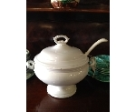 FRENCH IRONSTONE TUREEN  WITH LADLE