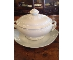 FRENCH IRONSTONE TUREEN AND PLATTER