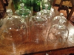 ANTIQUE FRENCH GLASS DOMES